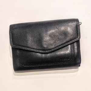 Fossil Bi fold Wallet Snap Closure Coin Pocket